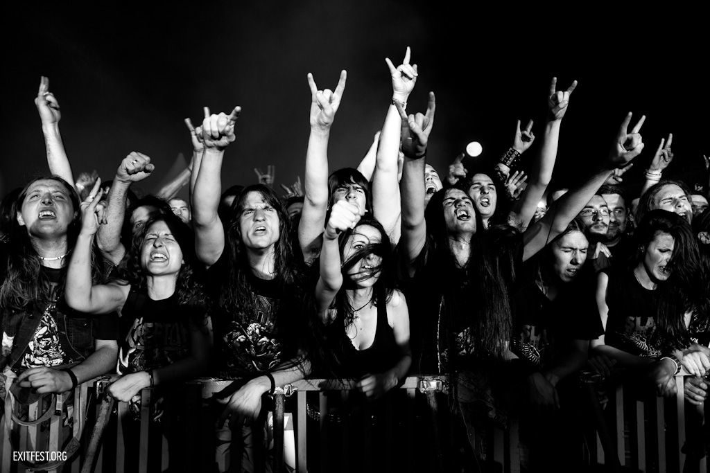 Crowd at Kreator, Explosive Stage #EXIT2011